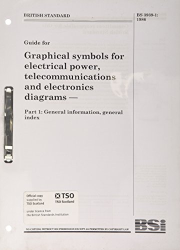 9780580153976: BS 3939-1:1986 Graphical Symbols for Electrical Power, Telecommunications and Electronics Diagrams: General Information, General Index