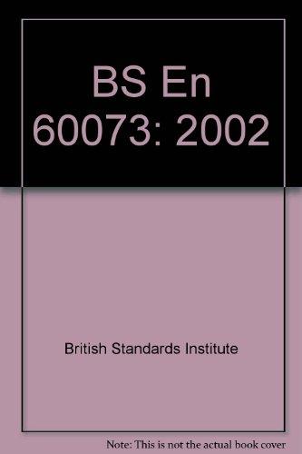 9780580403590: BS En 60073: 2002