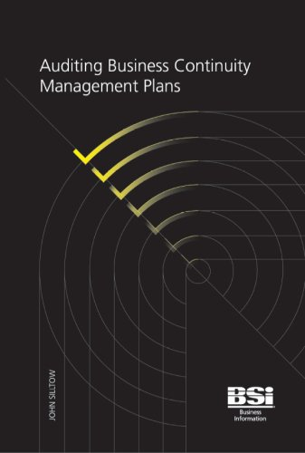9780580626401: Auditing Business Continuity Management Plans