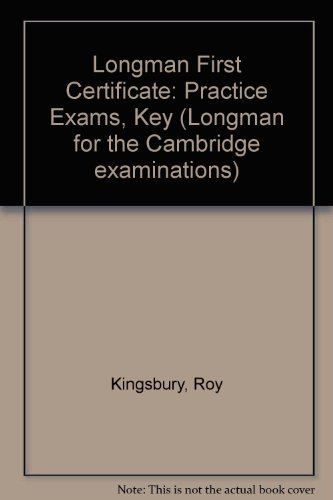 Longman First Certificate: Second Book of Practice: Roy Kingsbury