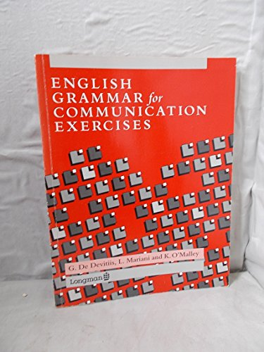 9780582005105: English Grammar for Communication: Exercises