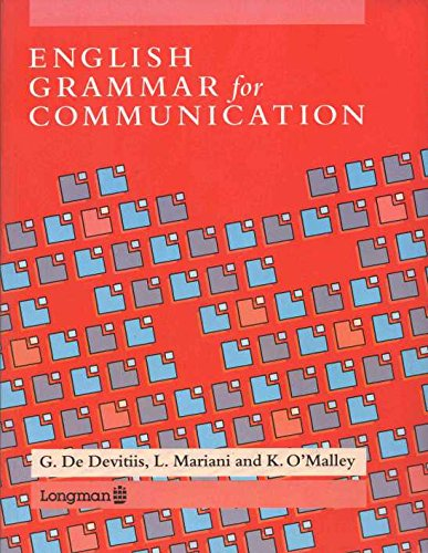 9780582005112: English Grammar for Communication
