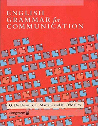 9780582005112: English Grammar for Communication