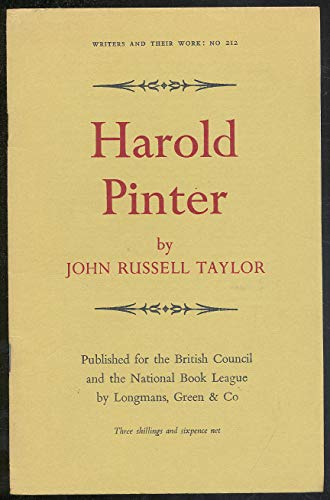 9780582012127: Harold Pinter; (Writers and their work)
