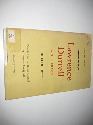 9780582012165: Lawrence Durrell (Writers & Their Work)