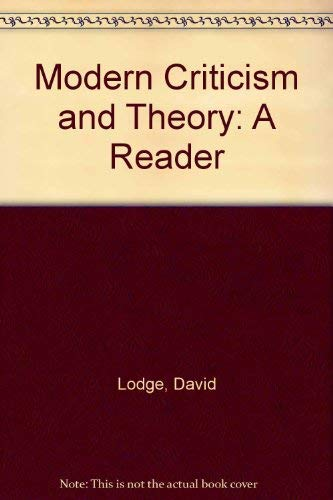 9780582015982: Modern Criticism and Theory: A Reader