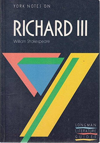 9780582023017: York Notes on William Shakespeare's