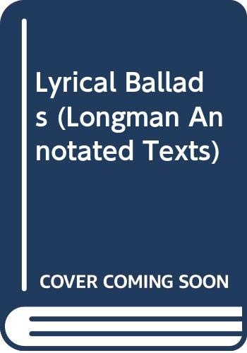 9780582033030: Lyrical Ballads (Longman Annotated Texts)