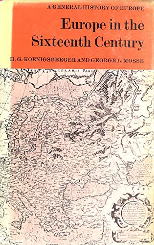 9780582046153: Europe in the Sixteenth Century (General History of Europe)