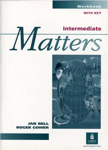 9780582046658: Intermediate Matters: Workbk. w. Key