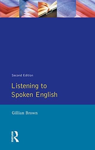 9780582052970: Listening to Spoken English