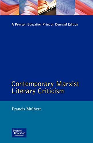 9780582059764: Contemporary Marxist Literary Criticism (Longman Critical Readers)