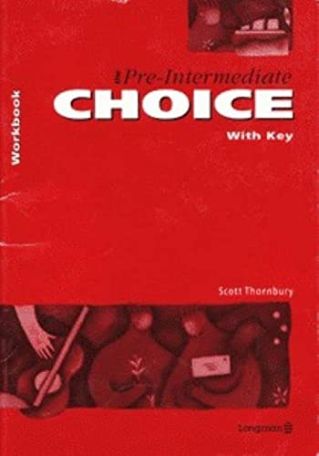 9780582071018: Pre-Intermediate Choice, The Workbook: With Key