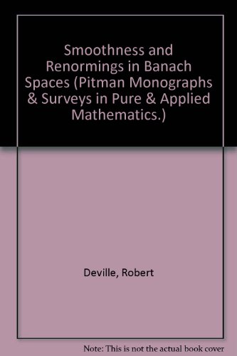 9780582072503: Smoothness and Renormings in Banach Spaces