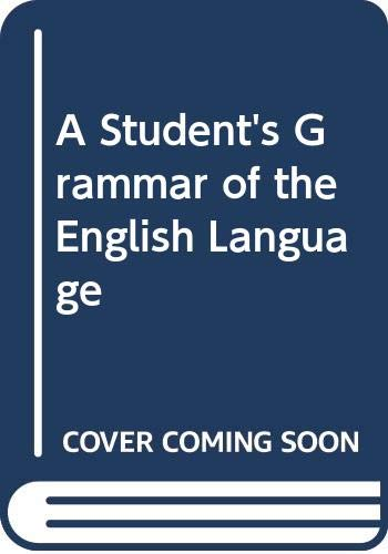 9780582075696: A Student's Grammar of the English Language