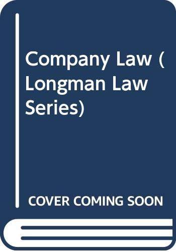 9780582077164: Company Law (Longman Law Series)
