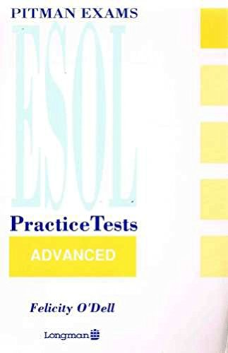 9780582086029: Pitman Examinations English as a Second or Other Language Practice Tests: Advanced