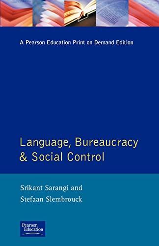 9780582086227: Language, Bureaucracy and Social Control