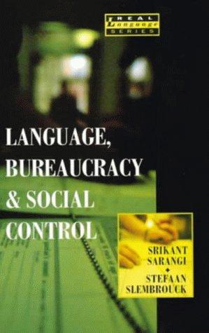 9780582086234: Language, Bureaucracy, and Social Control