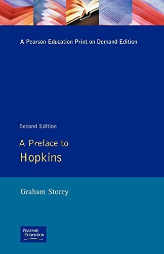 9780582088450: A Preface to Hopkins (Preface Books)