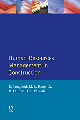 9780582090330: Human Resources Management in Construction (Chartered Institute of Building)