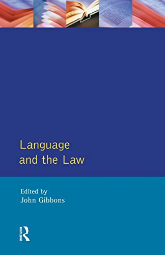 9780582101456: Language and the Law (Language In Social Life)