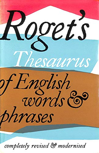 9780582117716: Thesaurus of English Words and Phrases