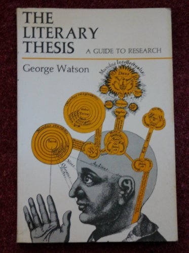 The Literary Thesis a guide to Research