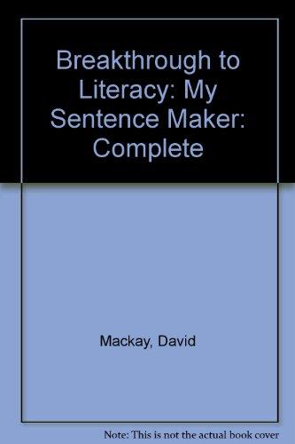 9780582190610: Breakthrough. My Sentence Maker: Pupils' Version (Breakthrough to Literacy)