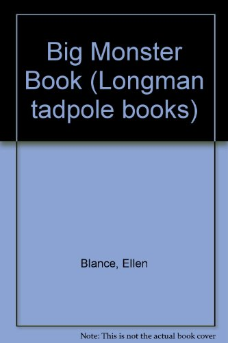 9780582193192: Big Monster Book (Longman tadpole books)