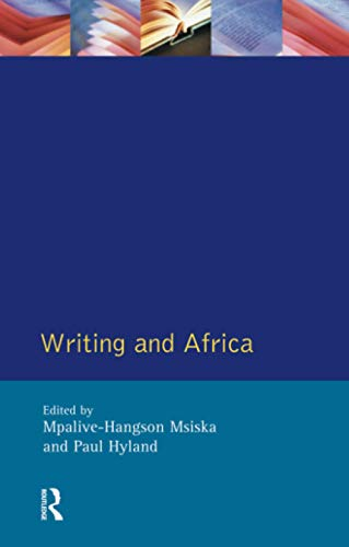 9780582214187: Writing and Africa (Crosscurrents)