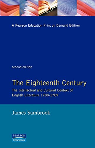 9780582219267: The Eighteenth Century: The Intellectual and Cultural Context of English Literature 1700-1789
