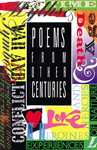 Poems from Other Centuries (New Longman Literature) (058222585X) by Adrian Tissier; Roy Blatchford