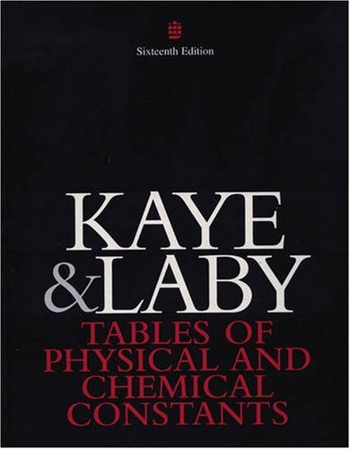 9780582226296: Tables of Physical and Chemical Constants and Some Mathematical Functions