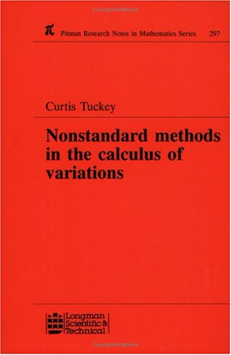 9780582231801: Nonstandard Methods in the Calculus of Variations (Chapman & Hall/CRC Research Notes in Mathematics Series)