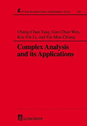 9780582231818: Complex Analysis and Its Applications (Chapman & Hall/CRC Research Notes in Mathematics Series)