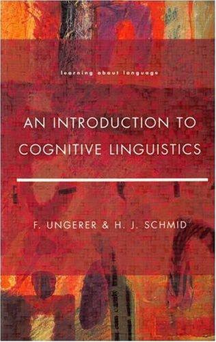 9780582239661: An Introduction to Cognitive Linguistics