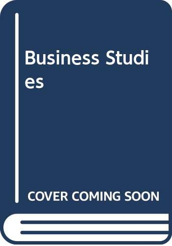 9780582244832: Business Studies