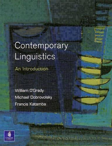 Contemporary Linguistics (0582246911) by William O'Grady; Michael Dobrovolsky; Francis Katamba