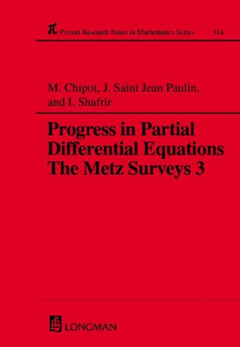 9780582253803: Progress in Partial Differential Equations: The Metz Surveys 3 (Chapman & Hall/CRC Research Notes in Mathematics Series) (Vol 3)