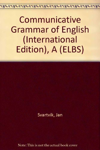 9780582255012: Communicative Grammar of English (International Edition), A