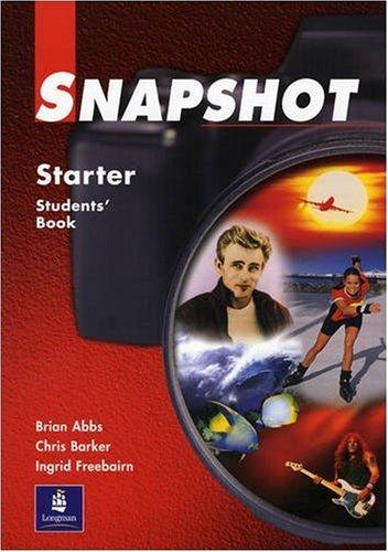 9780582259041: Snapshot Starter Student's Book