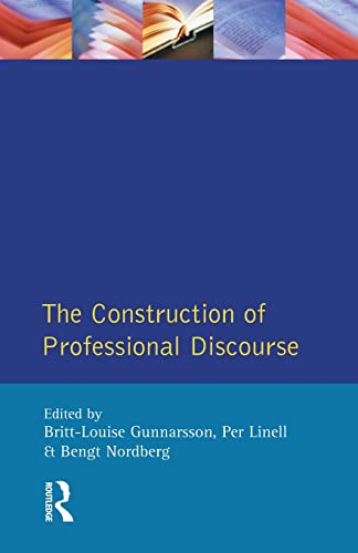 9780582259416: The Construction of Professional Discourse
