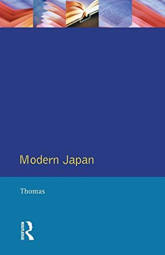 9780582259614: Modern Japan: A Social History Since 1868