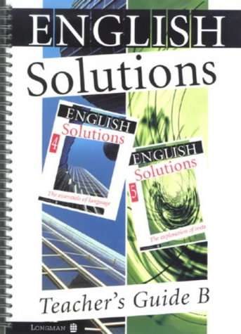 9780582265806: English Solutions: Teacher's Guide B for Books 4-5