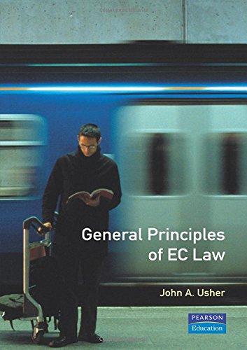 9780582277496: General Principles of European Community Law (European Law Series)
