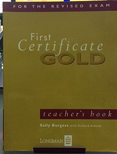 9780582278578: First Certificate Gold: Teacher's Book (FCE)