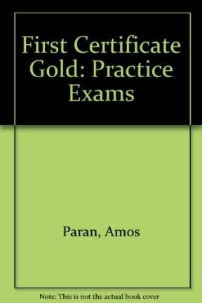 9780582278585: First Certificate Gold Practice Exams Without Key Old Edition