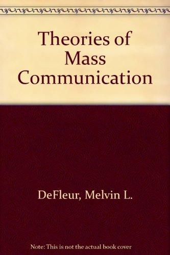 9780582280175: Theories of Mass Communication
