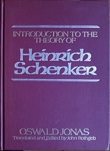 9780582282278: Introduction to the Theory of Heinrich Schenker (Music Series)